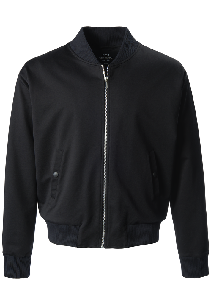 Gym Yilmaz Organic Cotton Bomber Jacket in Black