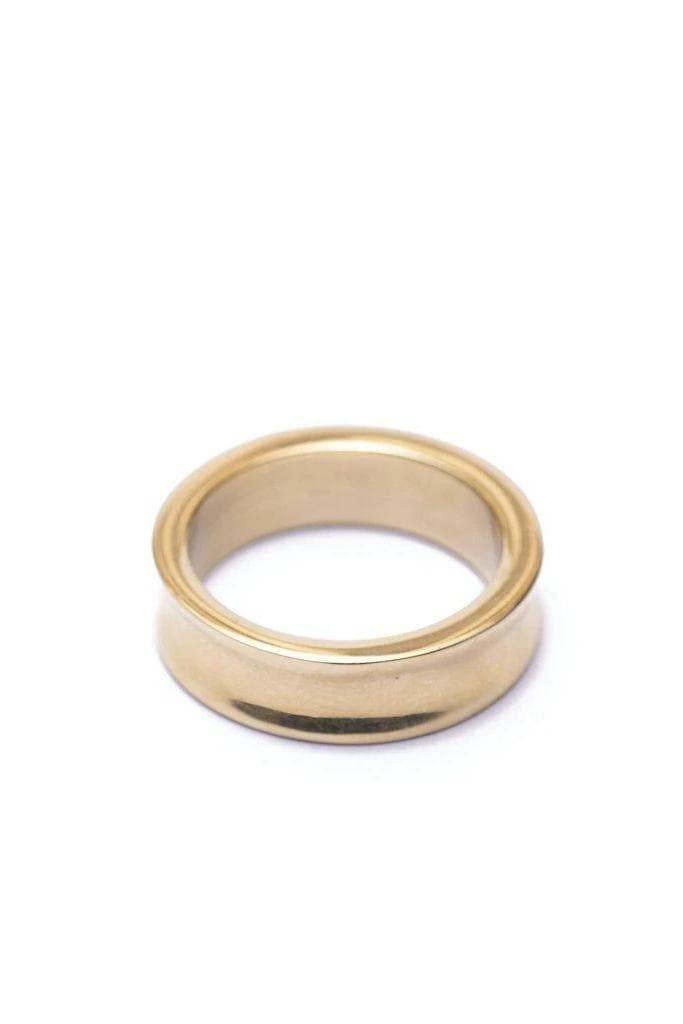 Yimbo Scooped Recycled Brass Ring