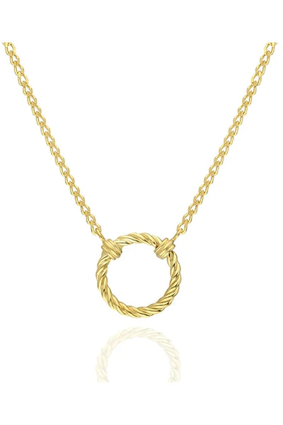 Amelia Handmade Gold-Plated Silver Necklace