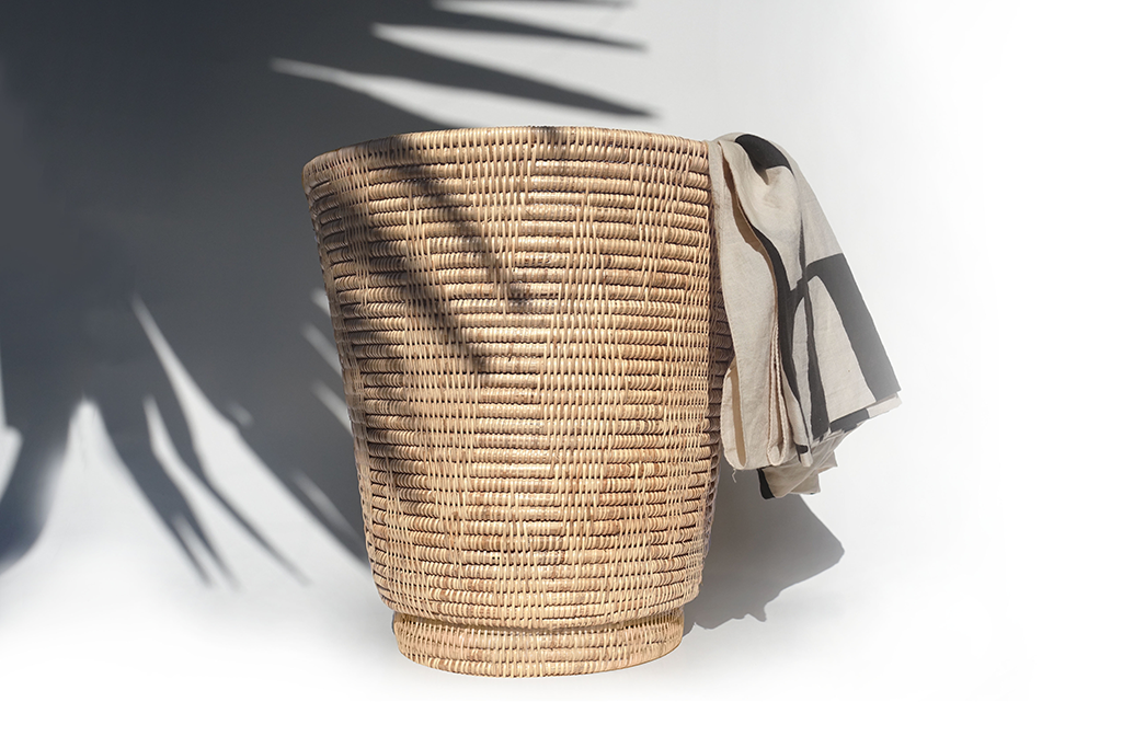 Rika Artisan Rattan Bin in Natural