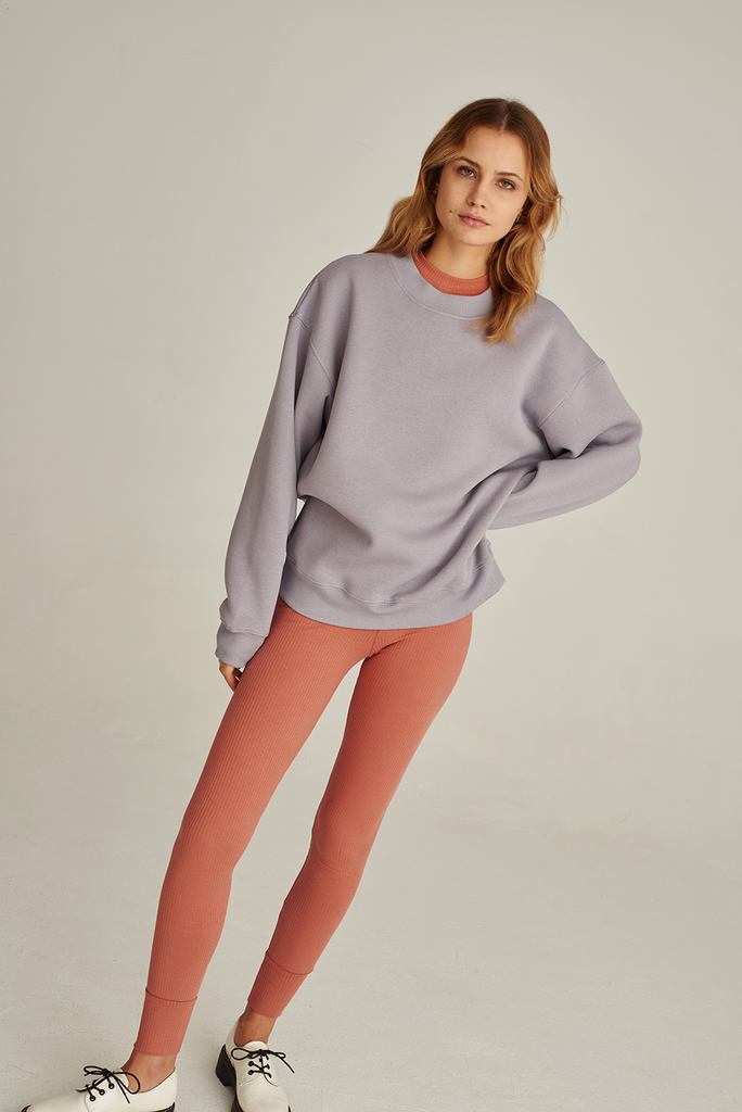 05/13 Organic Cotton Sweatshirt in Lilac Grey