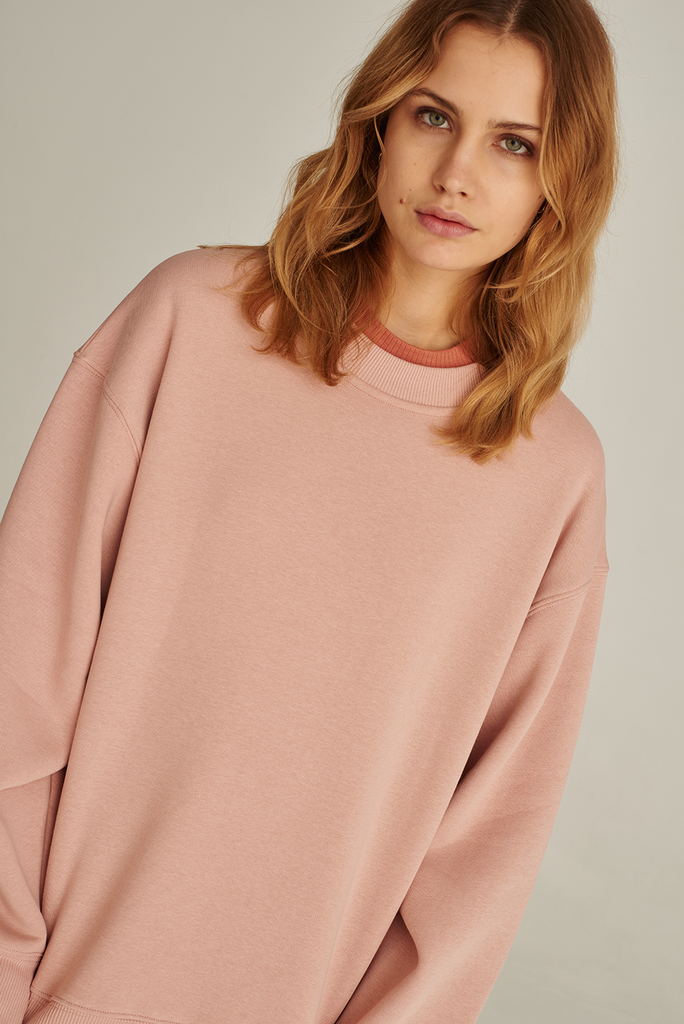 05/13 Organic Cotton Sweatshirt in Rose