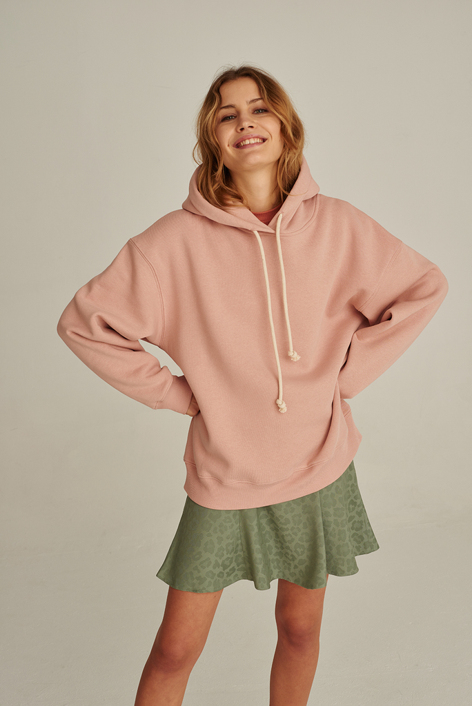 05/14 Organic Cotton Hoodie in Rose