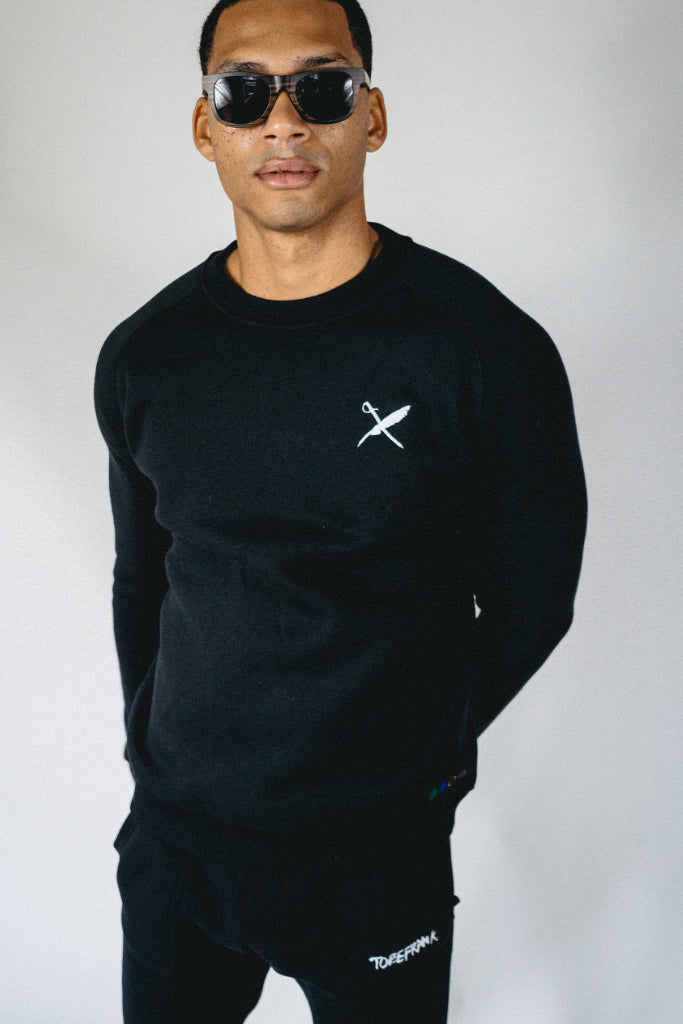 Bobby Recycled Cotton & Polyester Unisex Sweatshirt in Black