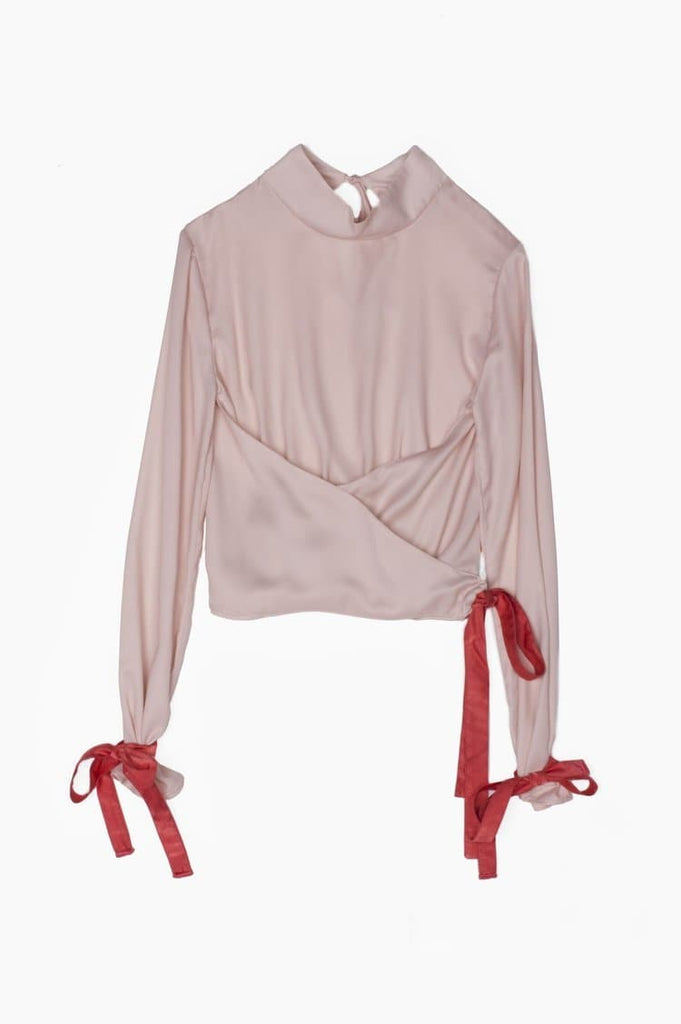 Electra Recycled Polyester Blouse in Light Pink