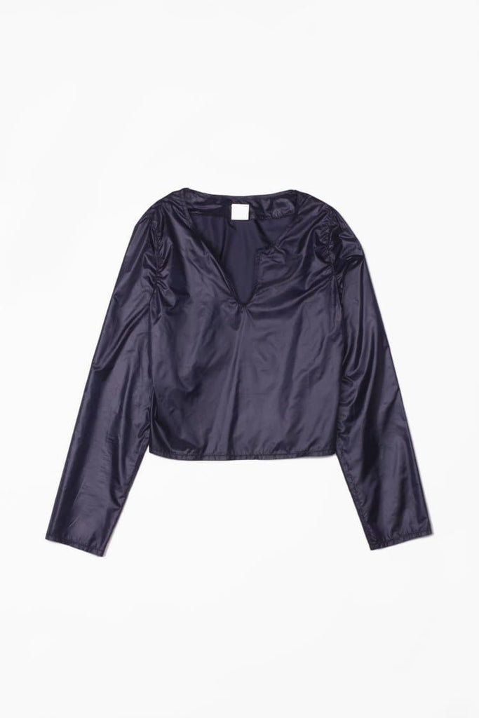 Izar Recycled Polyester Blouse in Dark Blue