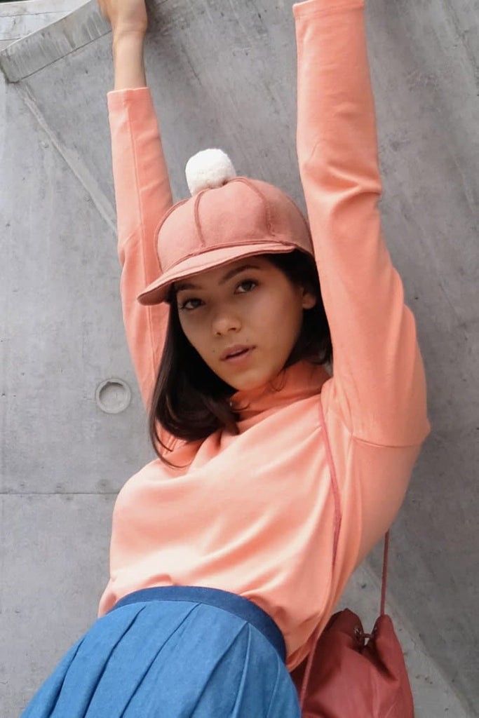 Aveline Natural Cap in Pink