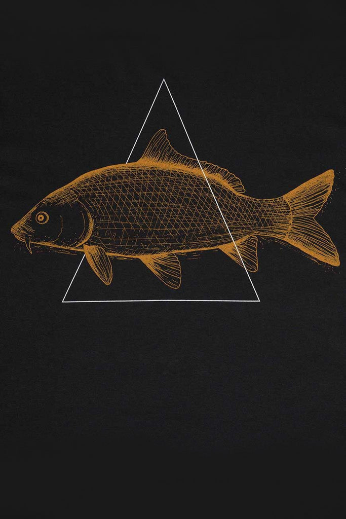 Carp by Zerum Organic Cotton T-shirt in Black