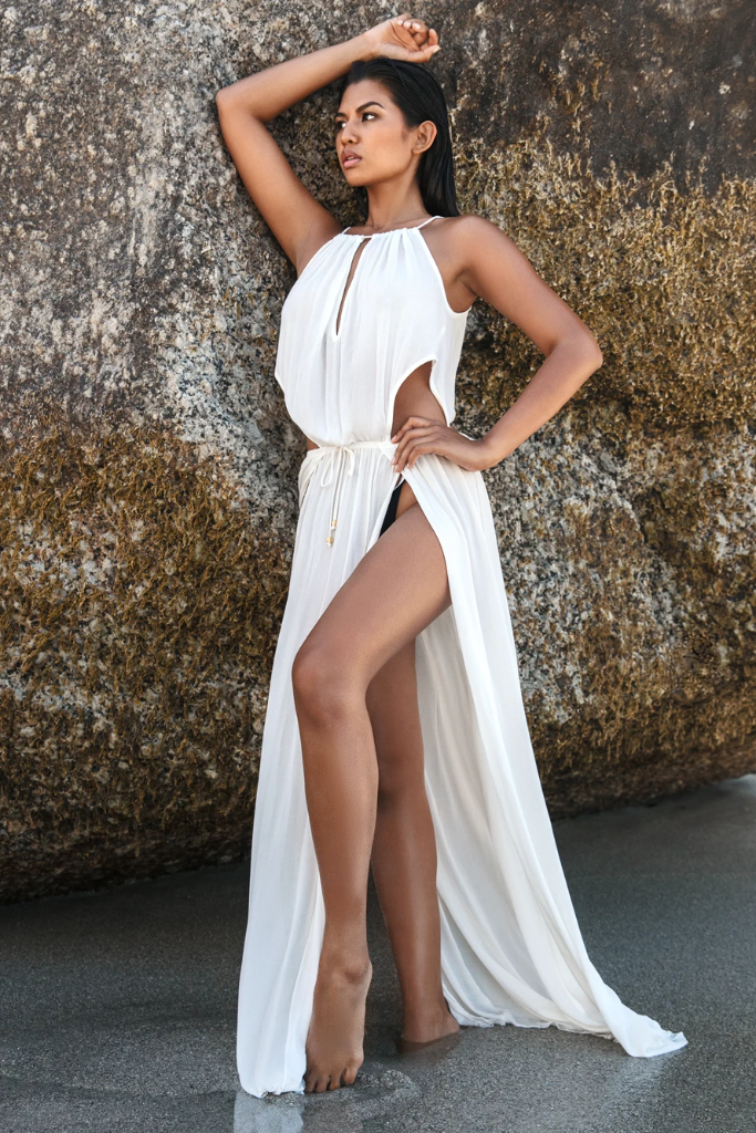 Copacabana Biodegradable Dress in White