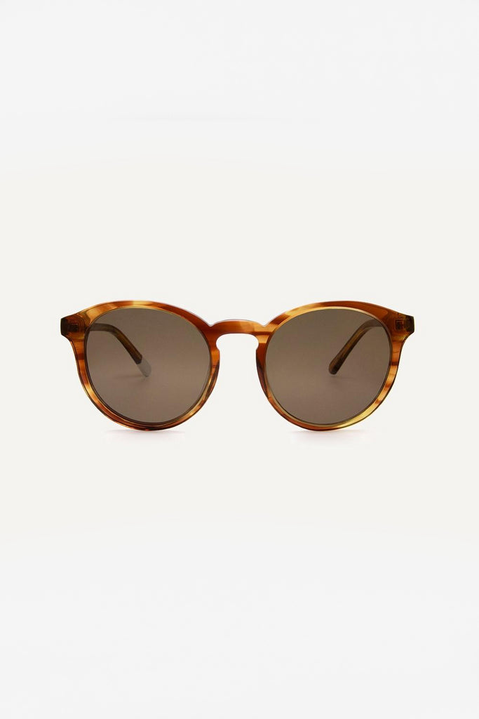 Darya Ethical & Eco-Friendly Acetate Sunglasses in Honey Brown