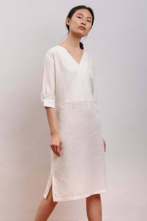 Bluebell Ethical Bamboo Dress in White