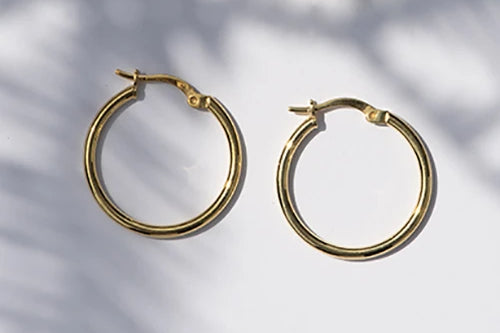 Coco Handmade Gold-Plated Silver Hoop Earrings