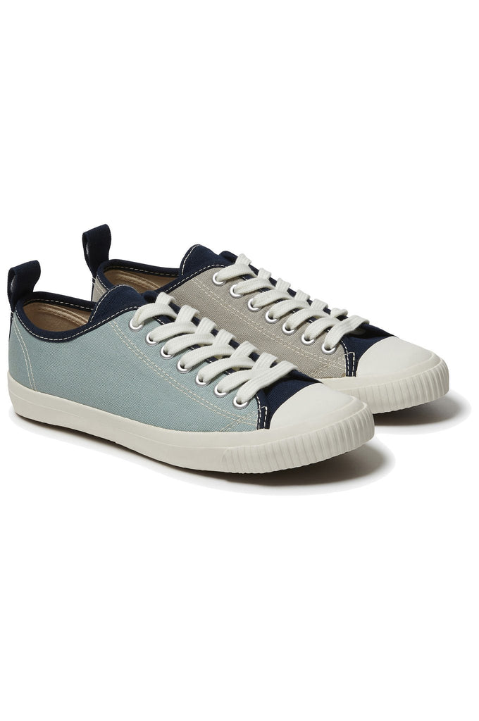 Eco Sneako Vegan Women's Patches Sneakers in Blue & Gray