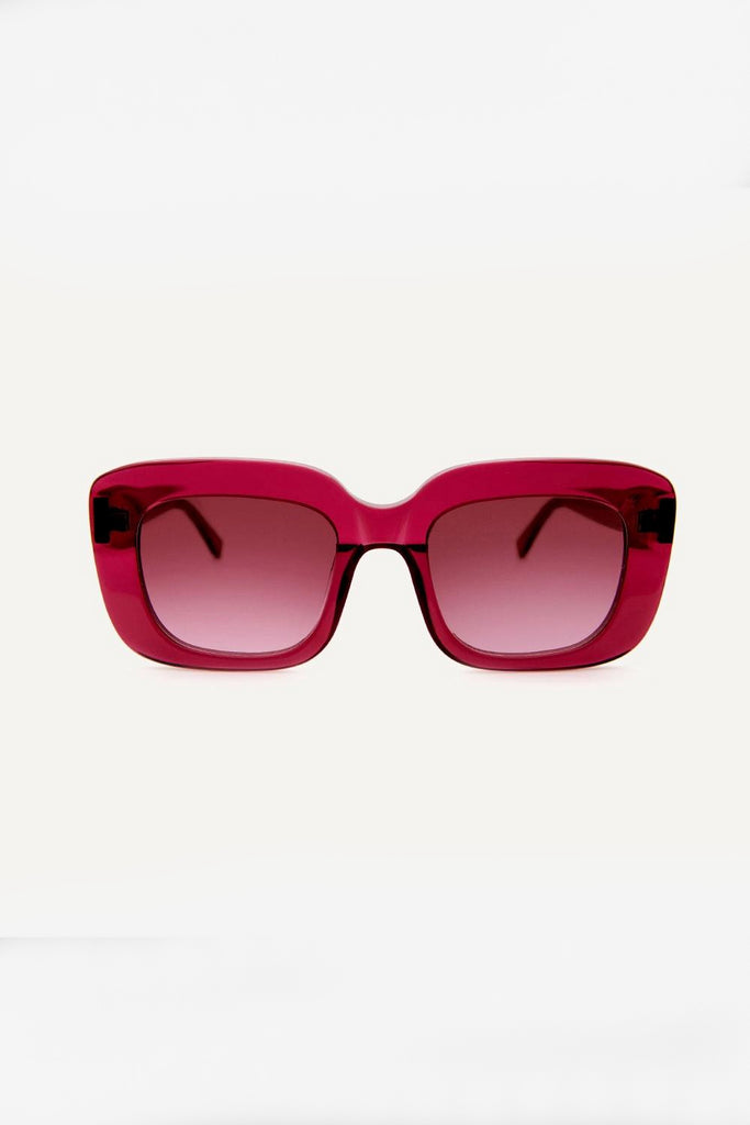Farai Ethical & Eco-Friendly Acetate Sunglasses in Berry Pink