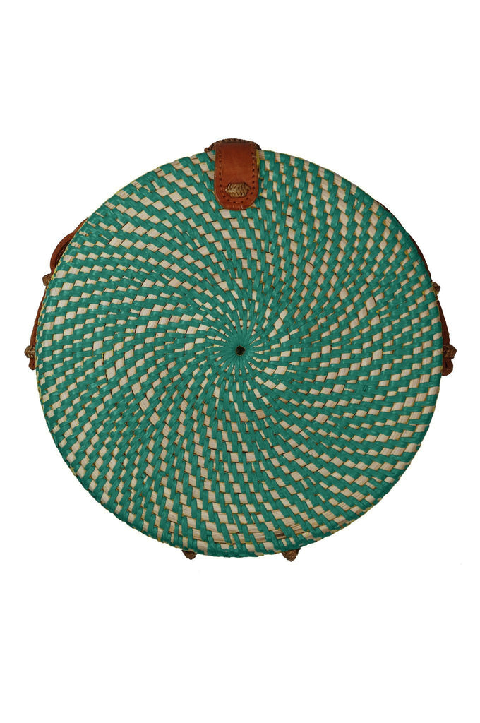 Frisbee Handmade Bag in Emerald