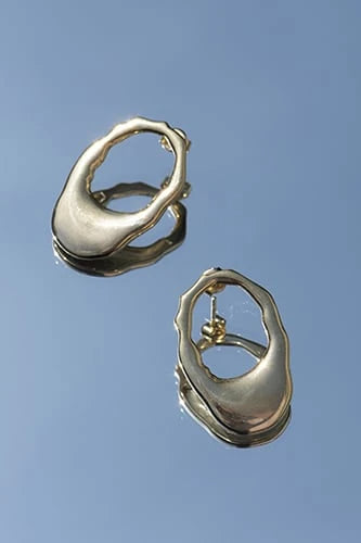 Audre Handmade Gold-Plated Silver Earrings