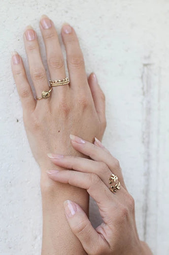 Admire Handmade Gold-Plated Silver Ring