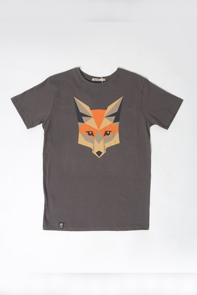 Fox by Zerum Organic Cotton T-shirt in Gray