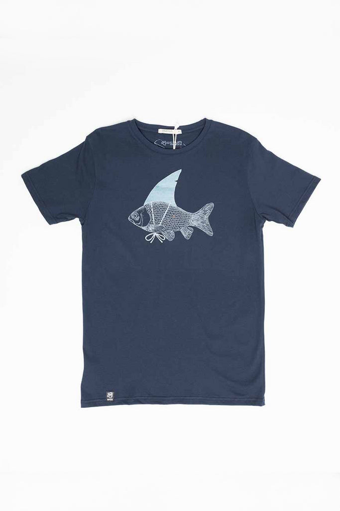 Shark by Zerum Organic Cotton T-shirt in Blue