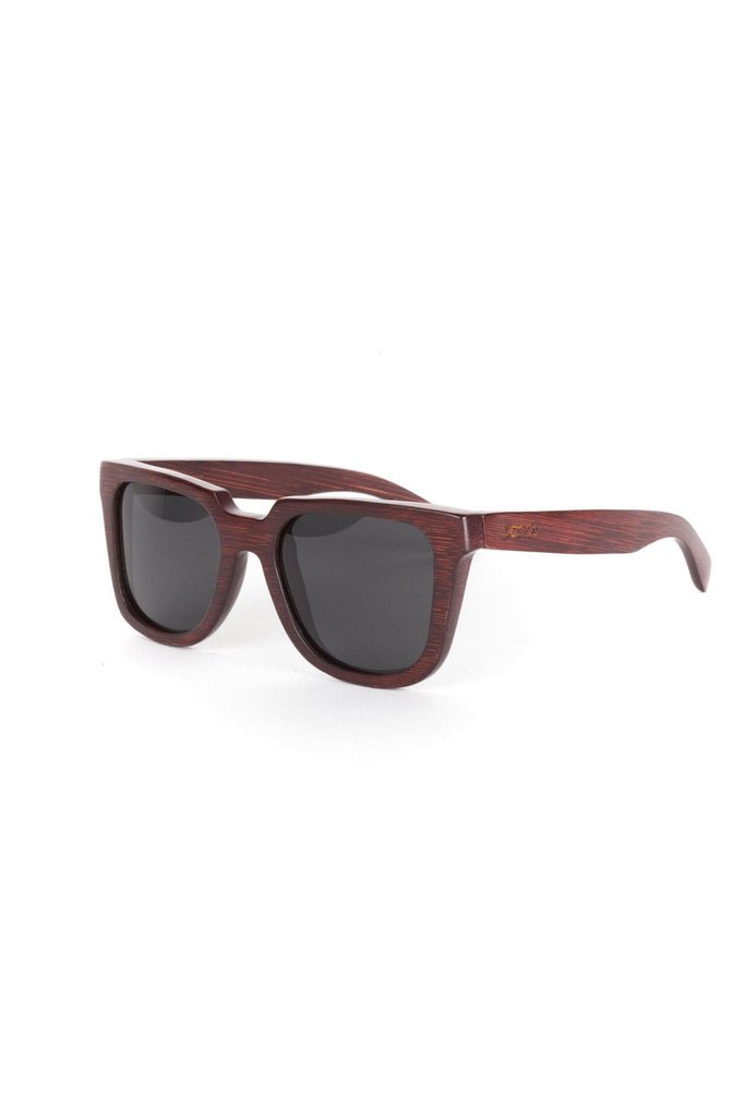 Eco-Friendly Bamboo Sunglasses - Jackson Red product image
