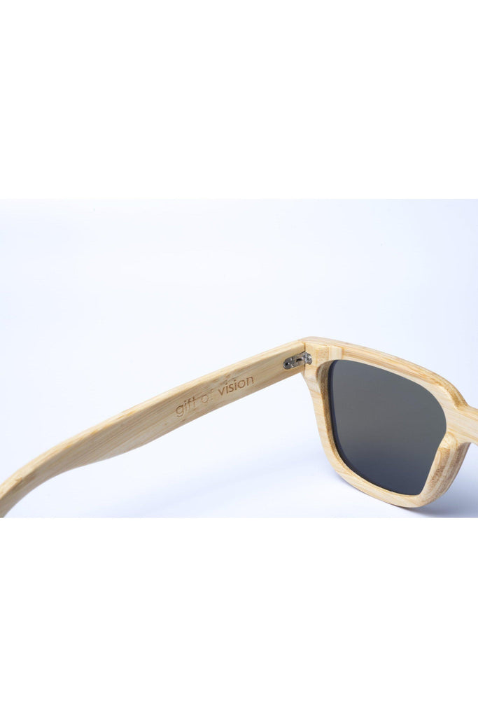 Eco-Friendly Bamboo Sunglasses - Jackson Natural/Blue product image