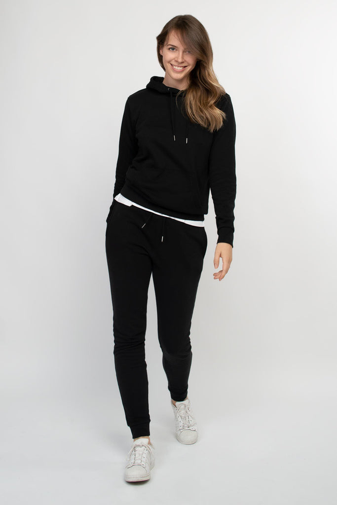 Organic Cotton Jogging Pants in Black