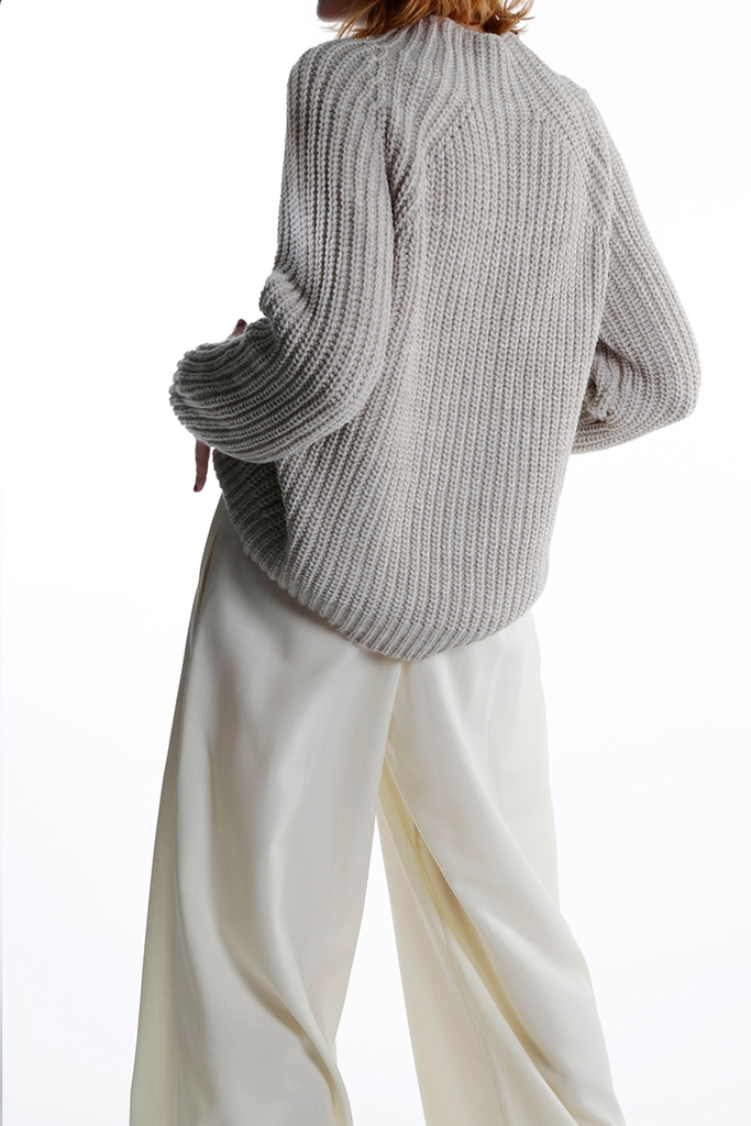 Ethical Alpaca Wool Sweater in Creamy Beige