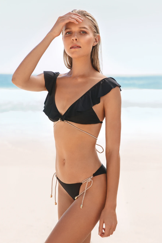 Kamikaze Biodegradable Bikini Bottom in Black