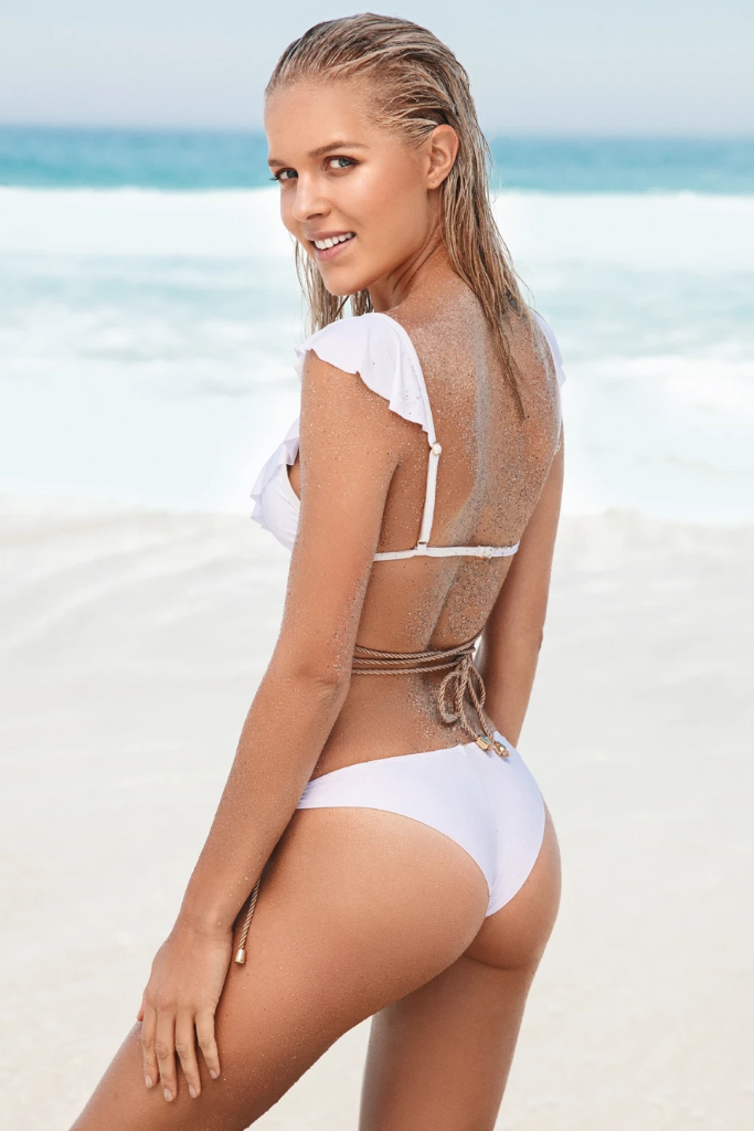 Cuba Libre Biodegradable Bikini Top in White