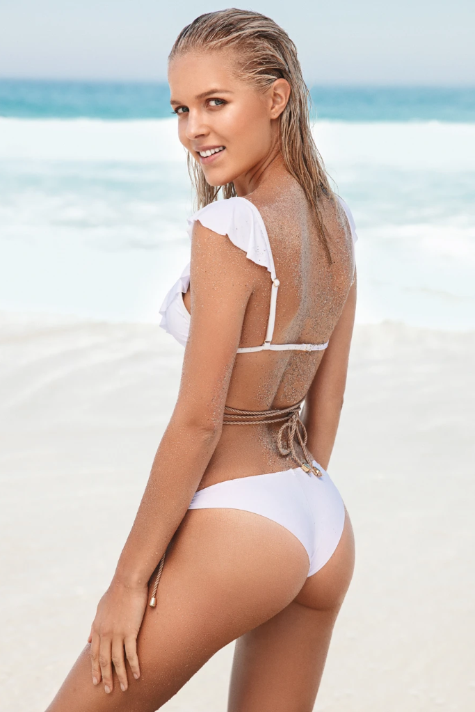 Kamikaze Biodegradable Bikini Bottom in White