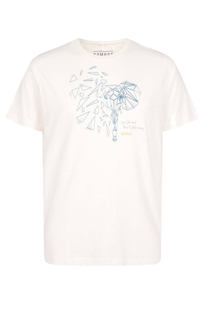 Kin Elephant Organic Cotton T-shirt in White