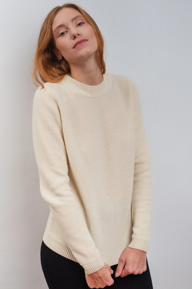Dalhia Ethical Merino Wool Sweater in Juniper