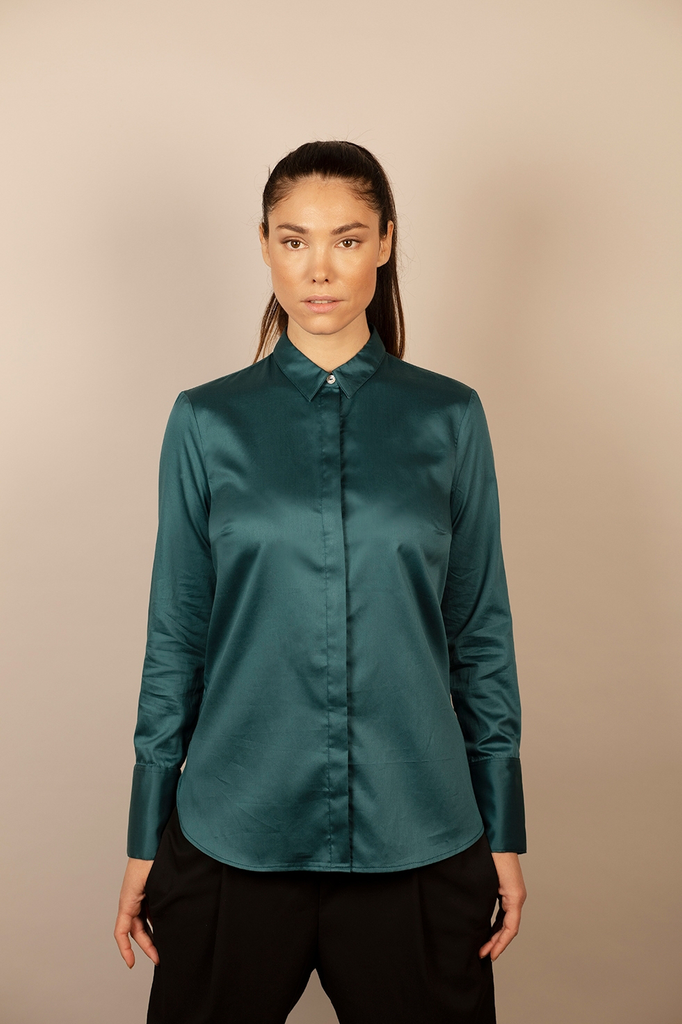 Elinor Cotton Satin Shirt