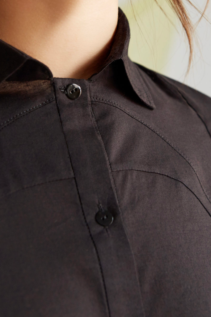 Himal Organic Cotton Shirt in Black