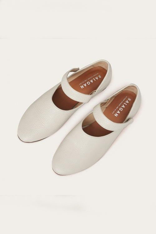 Madeline Natural Cow Leather Shoes in Dusk