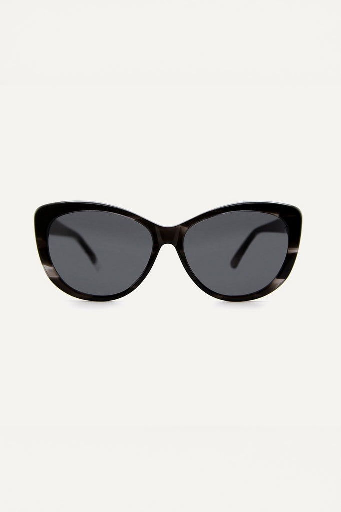 Makenna Ethical & Eco-Friendly Acetate Sunglasses in Black