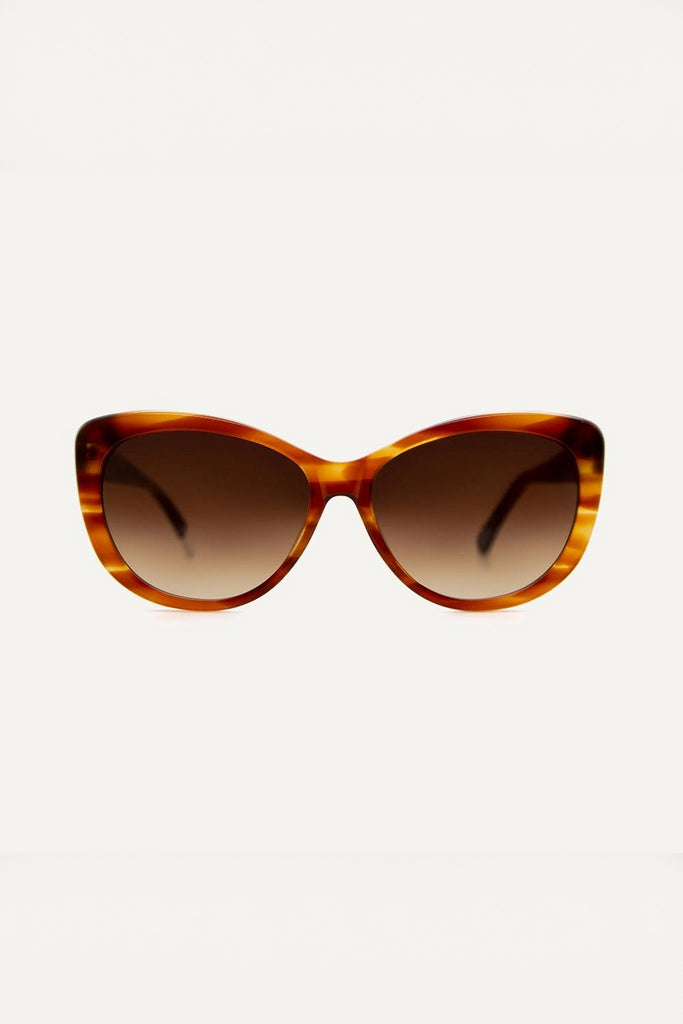 Makenna Ethical & Eco-Friendly Acetate Sunglasses in Caramel
