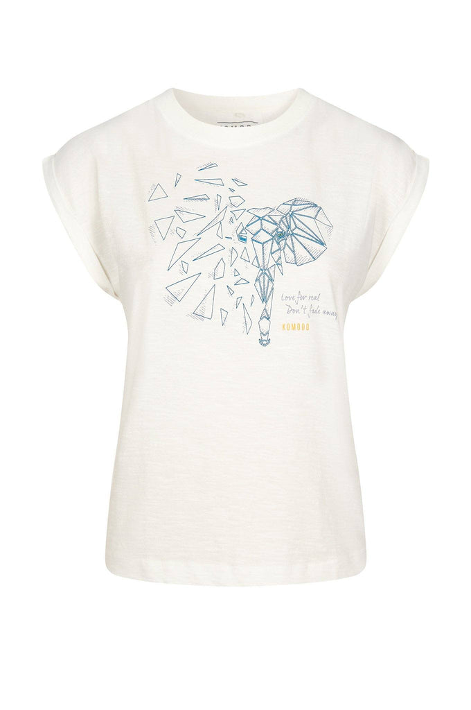 Mantra Elephant Organic Cotton T-shirt in White