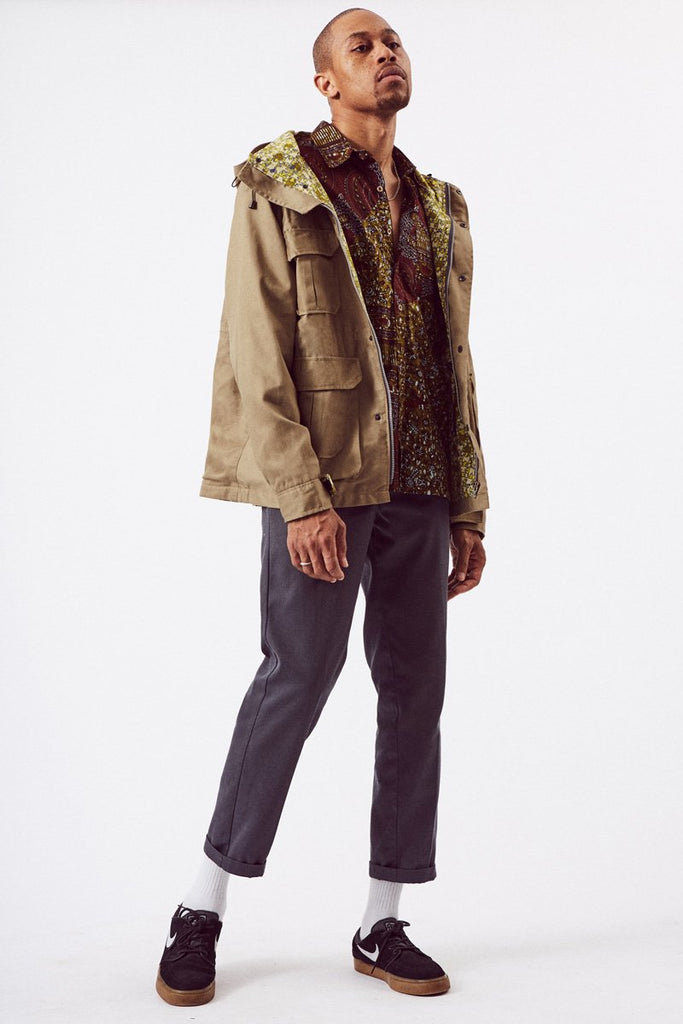 Parka Sustainable Cotton Jacket in Khaki