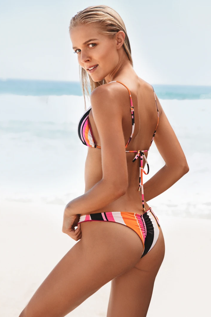 Mojito Biodegradable Bikini Bottom in Striped Print
