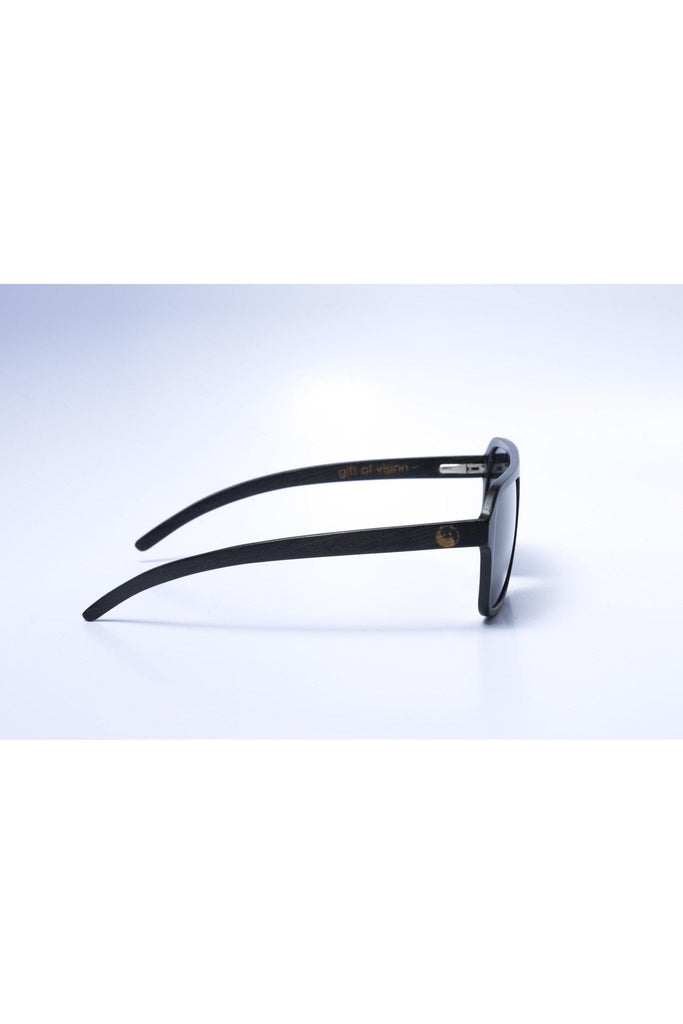 Eco-Friendly Bamboo Ultralight Sunglasses - Nelson Ultralight Black product image