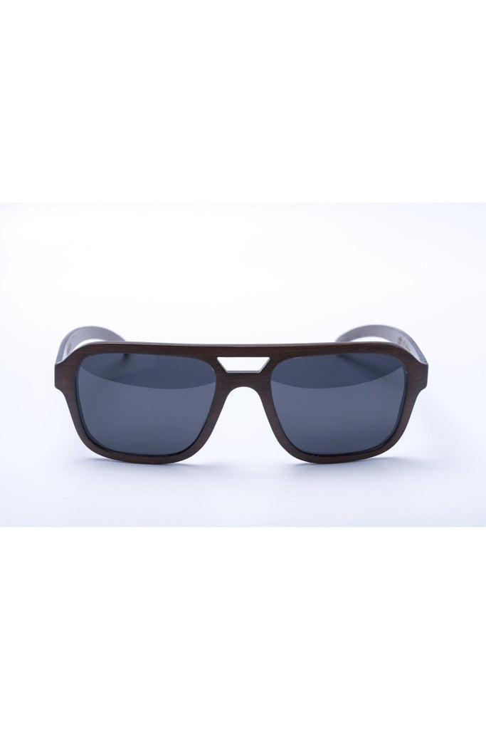 Panda ultra lightweight Nelson bamboo sunglasses - brown