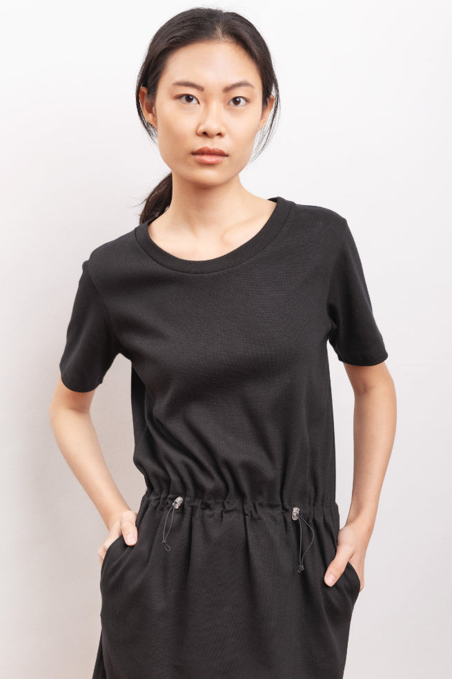 Crocus Organic Cotton Dress in Black