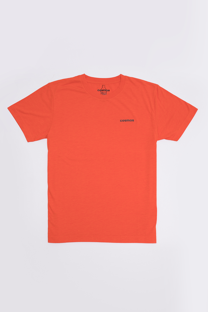 sustainable-Bottle Tee Ethical Recycled T-shirt in Orange-Cosmos-Kool and Konscious