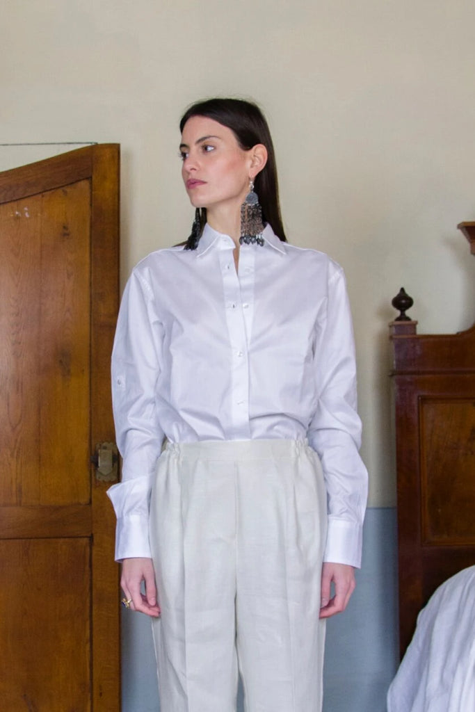 Amélie Deadstock Cotton Shirt in White