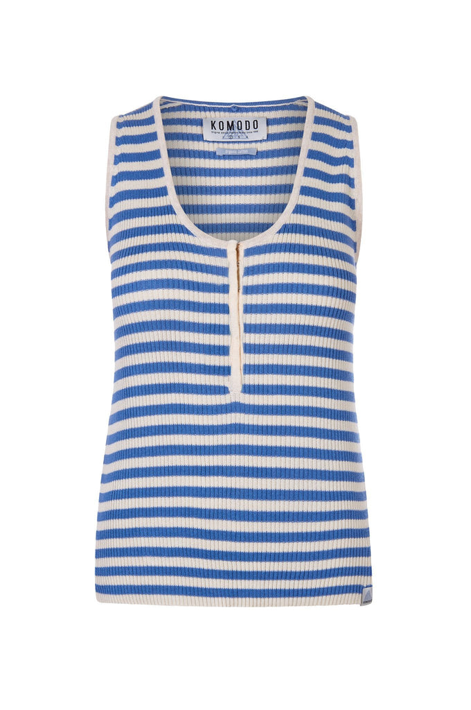 Popeye Organic Cotton Top in Blue Stripe