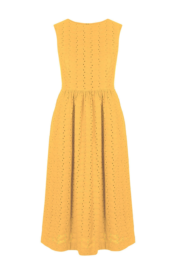 Primrose Organic Cotton Dress in Amber
