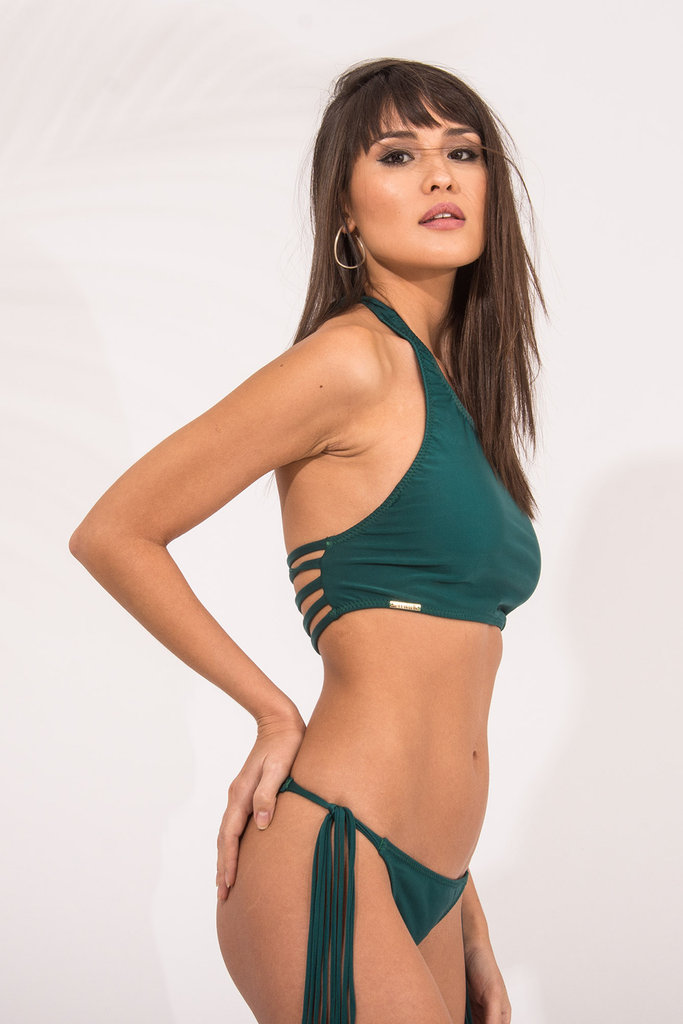 Lichia Green Straps Full Bottom