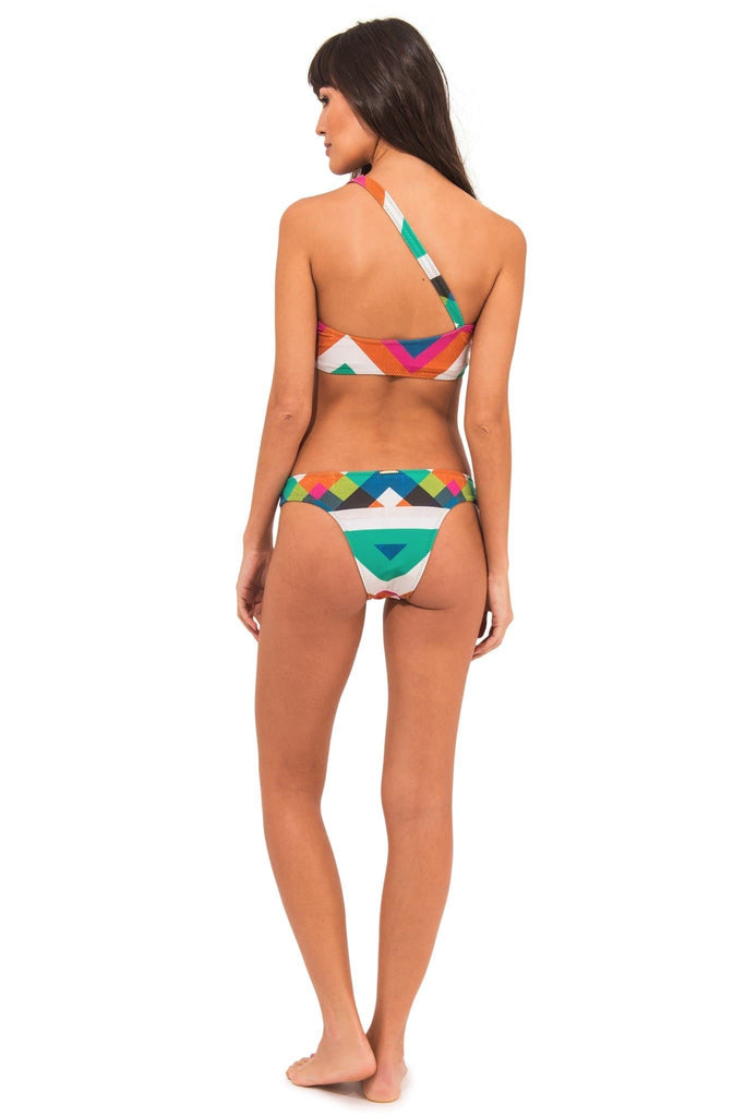 Buriti Rio Vegan Nylon&Lycra Classic Bottom in Green Print