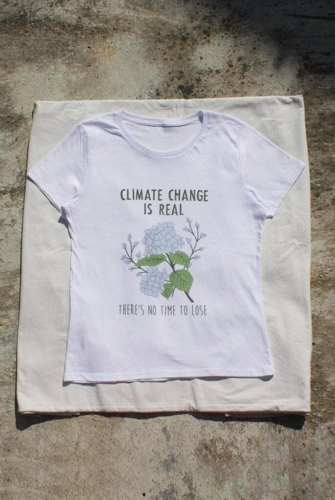 Climate Change Organic Cotton T-shirt in White